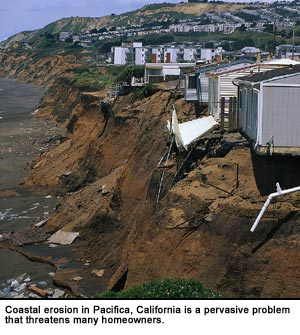 Coastal erosion in California